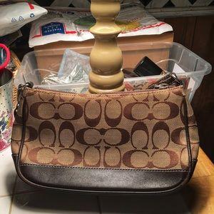 Coach Purse Small Brown Tote handbag